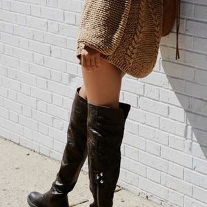 FREE PEOPLE Braxton Thigh High Boots **NEW***